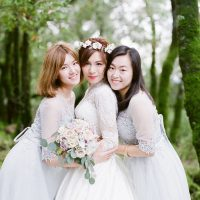 Lace Bridesmaid Dresses - Stella Yang Photography