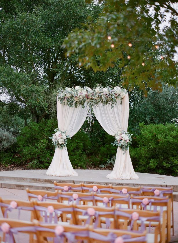 Outdoors Wedding Ceremony Arch - Stella Yang Photography