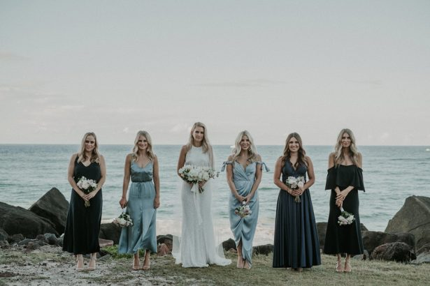 Seaside Bridal Party Photo - Lucas & Co Photography