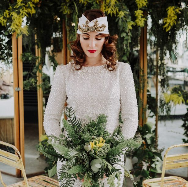 Vintage Glamour Meets Organic Charm in this Madrid Elopement Inspiration