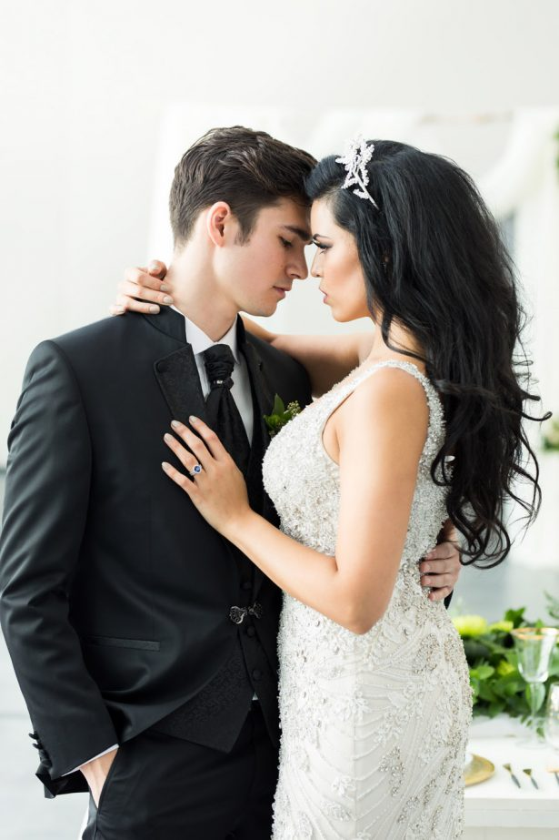 Sophisticated Bride and Groom Inspiration - Tom Wang Photography