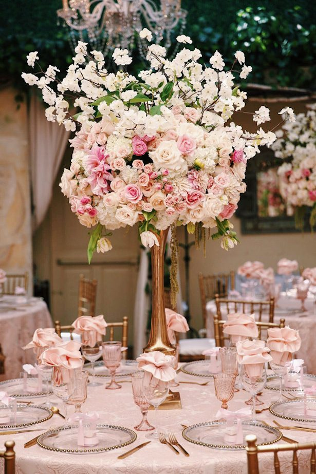 Tall Wedding Centerpiece - Zadori Photography