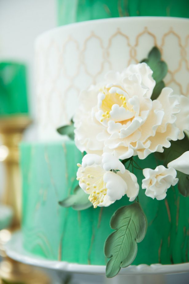 Marble Wedding Cake with Sugar Flowers - Tom Wang PhotographyMarble Sugar Flowers - Tom Wang Photography