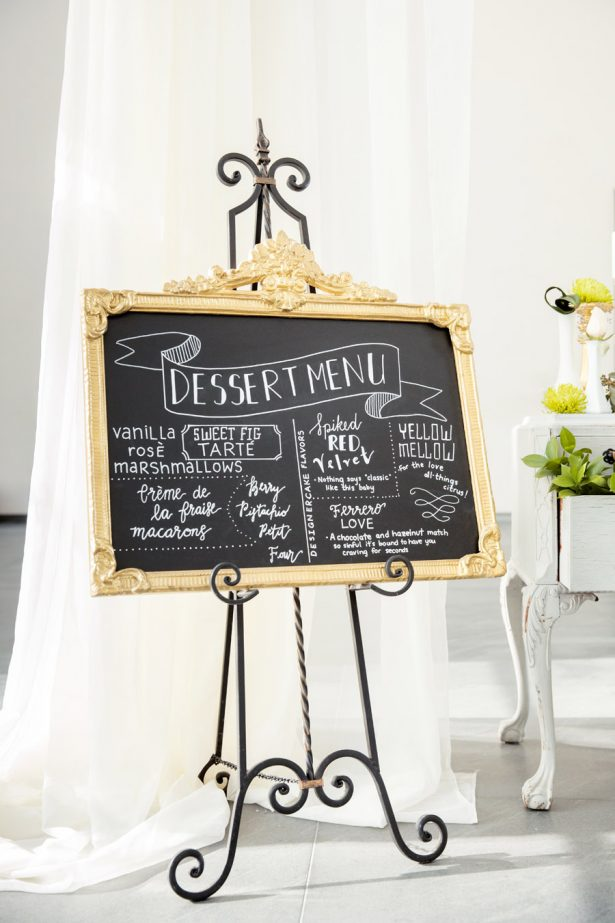 Wedding Desert Menu Sign - Tom Wang Photography