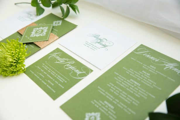 Wedding Invitation Greenery Ideas  – Tom Wang Photography
