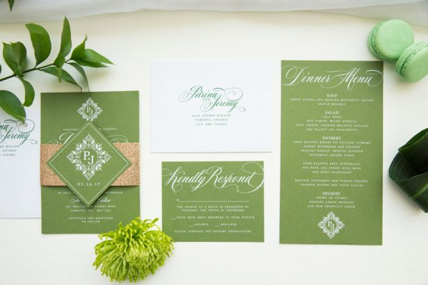 Greenery Wedding Invitation - Tom Wang Photography