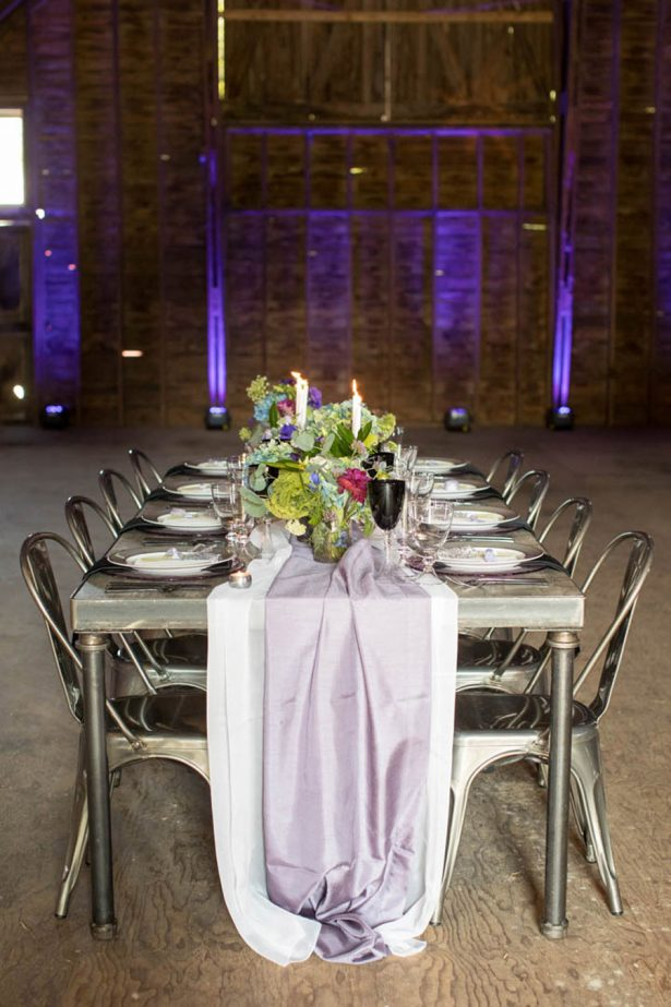 Wedding Lavander Table Runner - Images by Berit