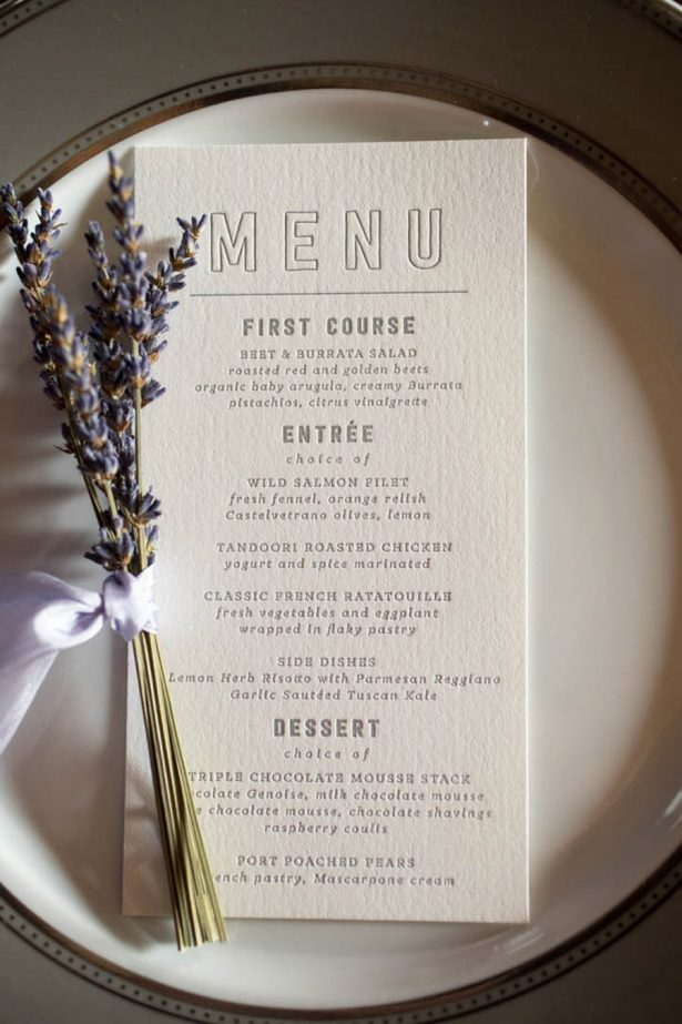 Wedding Menu - Images by Berit