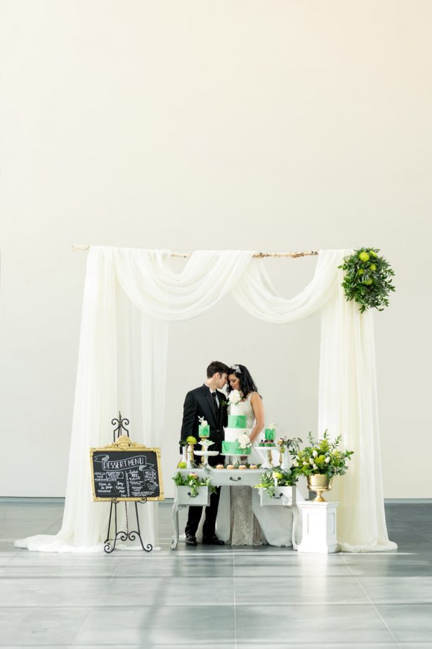 Glamorous Greenery Wedding Inspiration - Tom Wang Photography