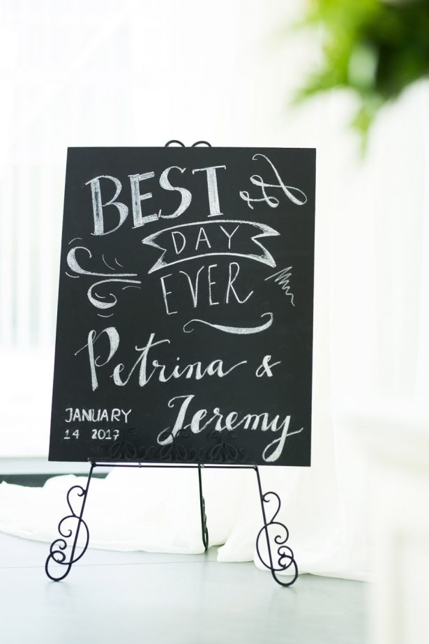 Wedding Reception Details Sign – Tom Wang Photography