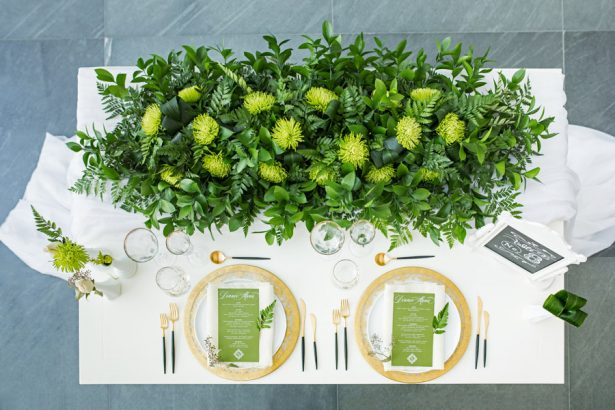 Greenery Wedding Tablescape - Tom Wang Photography