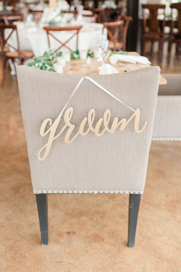 Wedding chair sign - Alicia Lacey Photography