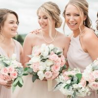 blush bridal party - Alicia Lacey Photography