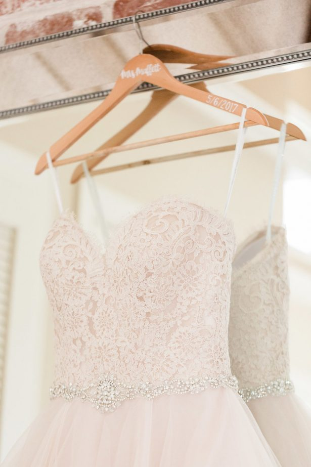 blush wedding dress - Alicia Lacey Photography