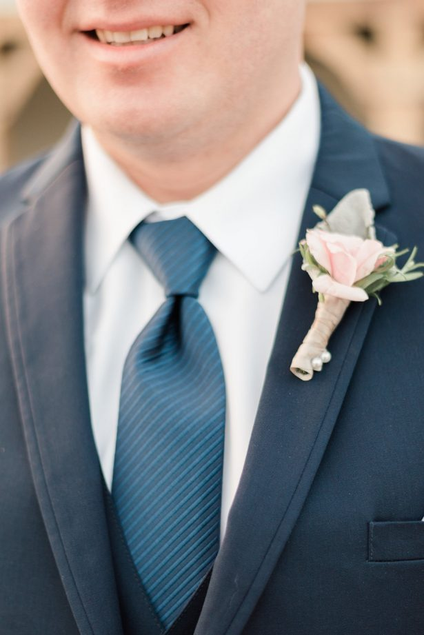 groom navy blue suit - Alicia Lacey Photography