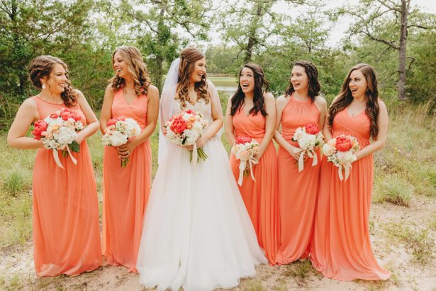 Coral Bridesmaid Dresses - Two Pair Photography