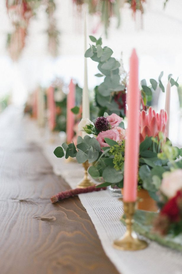 Colorful Boho Wedding Centerpiece - Photography: Irene Fucci
