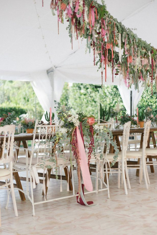 Colorfull Bohemian Style Apartment Of Cécile Figuette: Proteas And Ribbons: A Colorful Boho Wedding In Lake Como