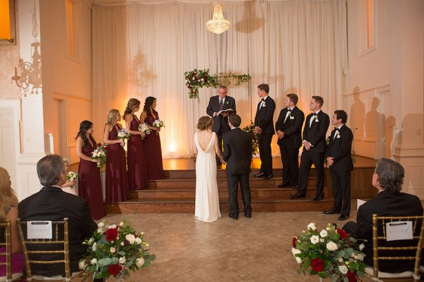 Indoor Wedding Ceremony - Paige Vaughn Photography