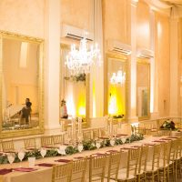 Long Wedding Table - Paige Vaughn Photography