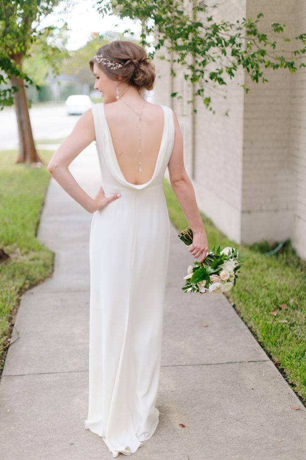 Low Back Wedding Dress - Paige Vaughn Photography
