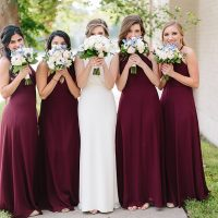 Maroon Bridesmaid Dresses - Paige Vaughn Photography