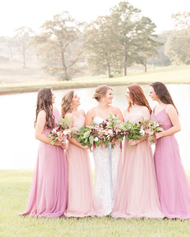 Mismatched Pink Bridesmaid Dresses - Alexi Lee Photography