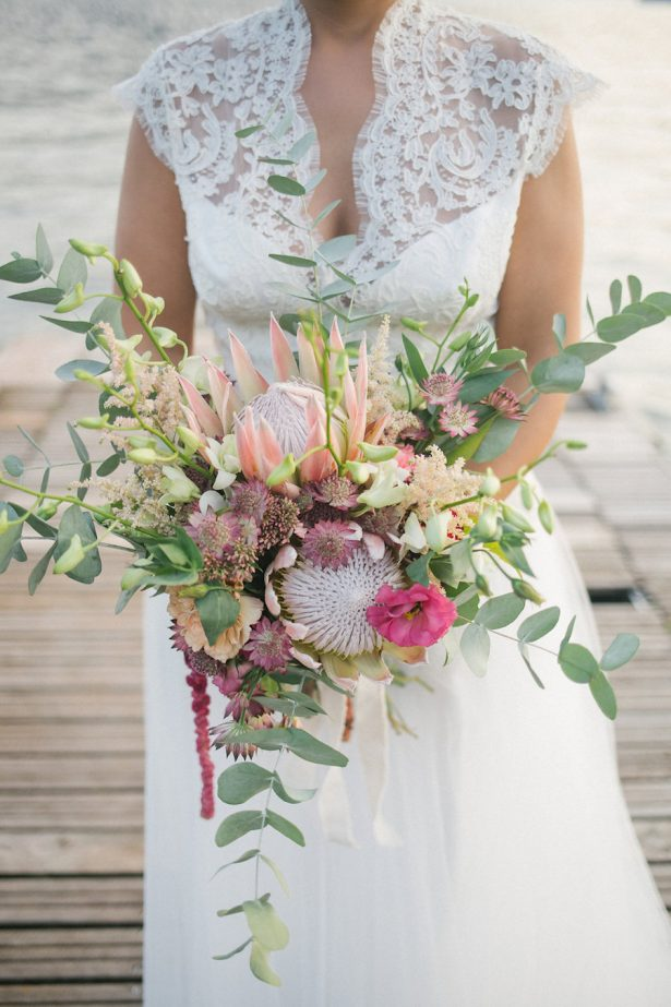 Protea wedding bouquet- Photography: Irene Fucci