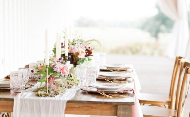 Rustic Elegance Wedding Tablescape- Alexi Lee Photography
