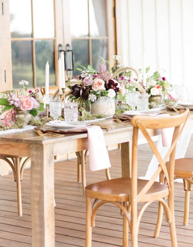 Rustic Elegance Wedding Tablescape - Alexi Lee Photography