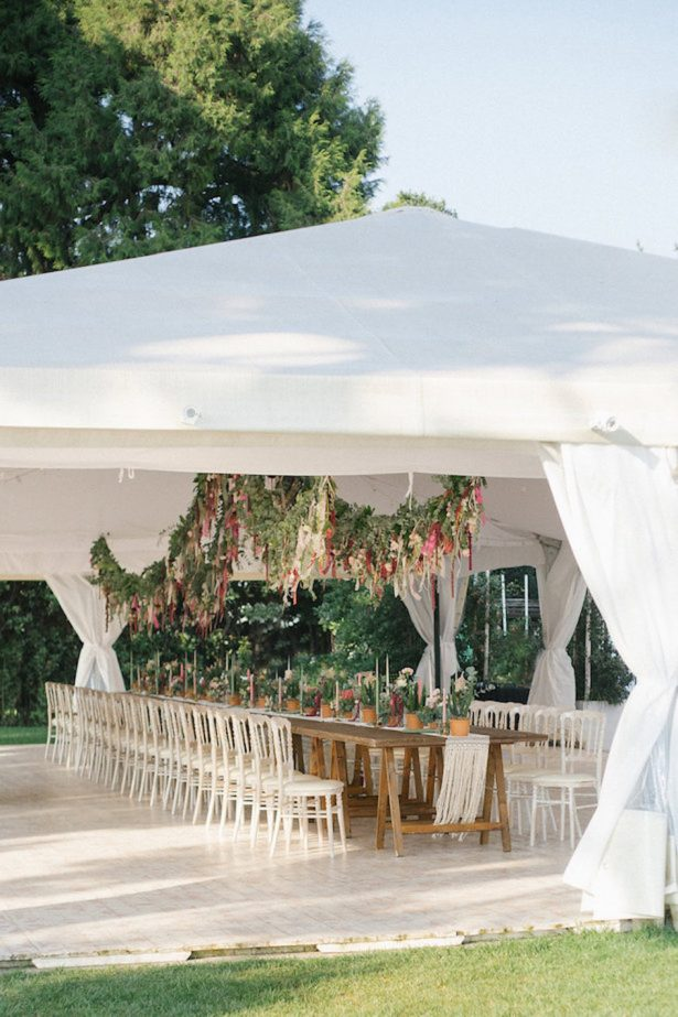 Tent wedding reception - Photography: Irene Fucci