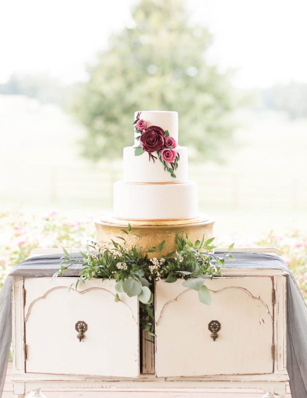Vintage Wedding Cake Table - Alexi Lee Photography