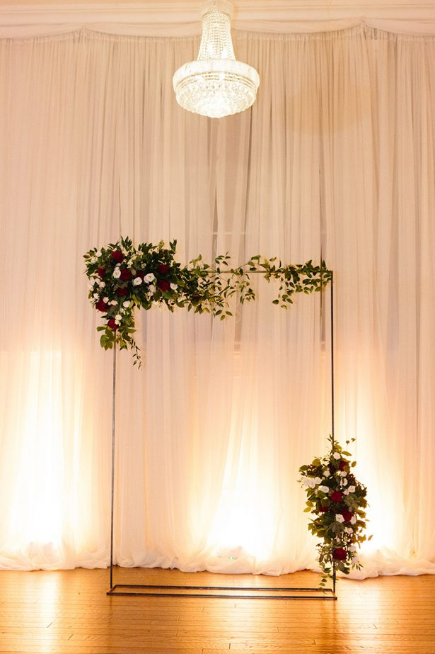 Wedding Ceremony arch - Paige Vaughn Photography