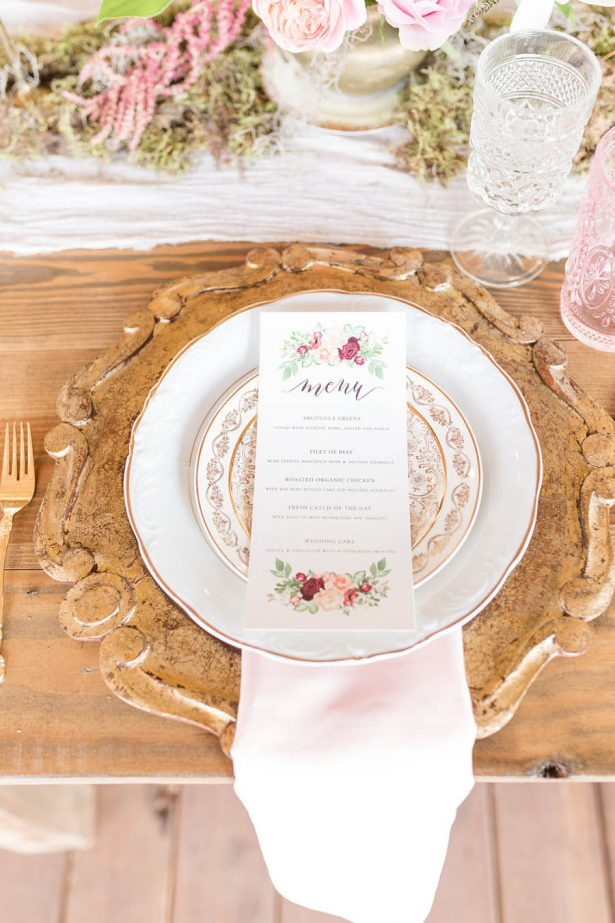 Wedding Menu - Alexi Lee Photography