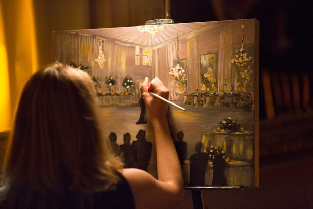 Wedding Painting - Paige Vaughn Photography