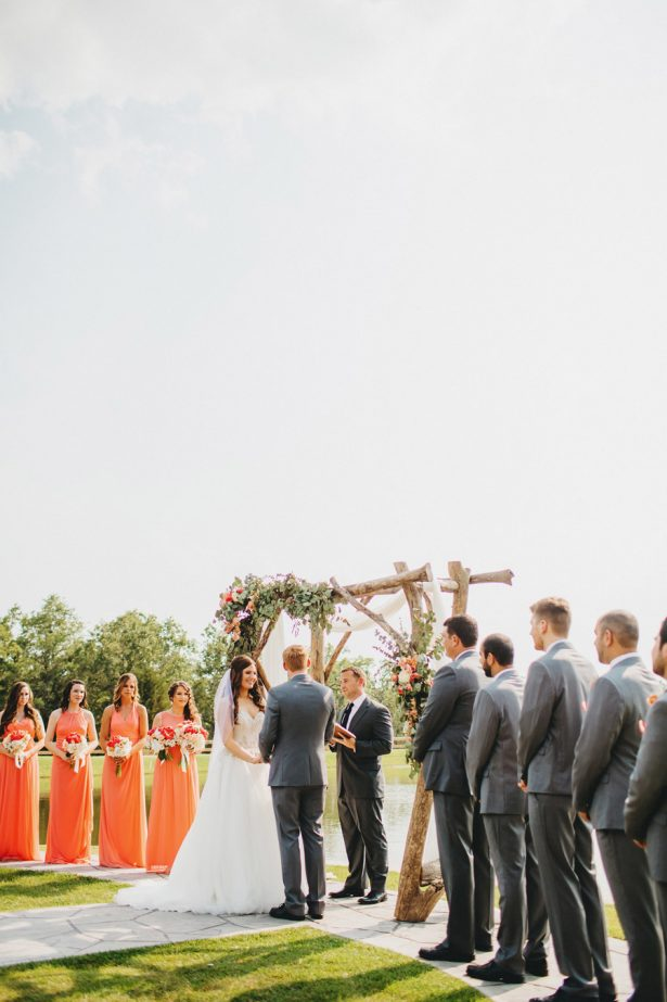 Outdoor Wedding Ceremony - Two Pair Photography