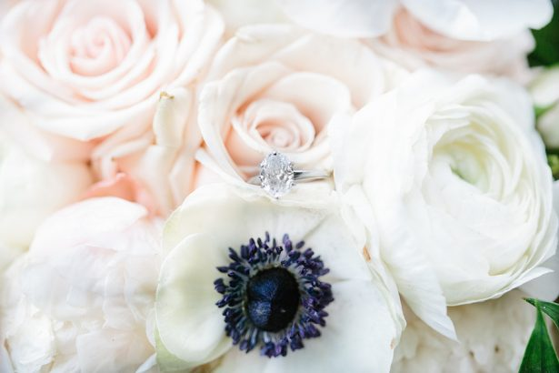 Wedding flowers and ring - Paige Vaughn Photography