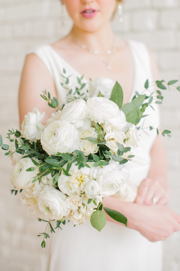 White Wedding Bouquet - Paige Vaughn Photography