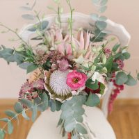Wild Wedding bouquet Protea - Photography: Irene Fucci