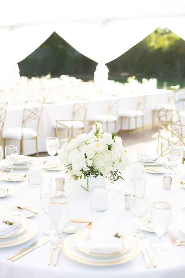 Tablescape - All White Wedding Ideas - Christine Chang Photography