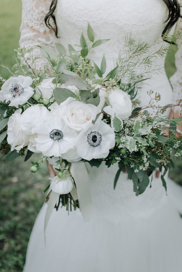 Bridal Bouquet - All White Wedding Ideas - 006. bloominous - kristin carrigan weddings