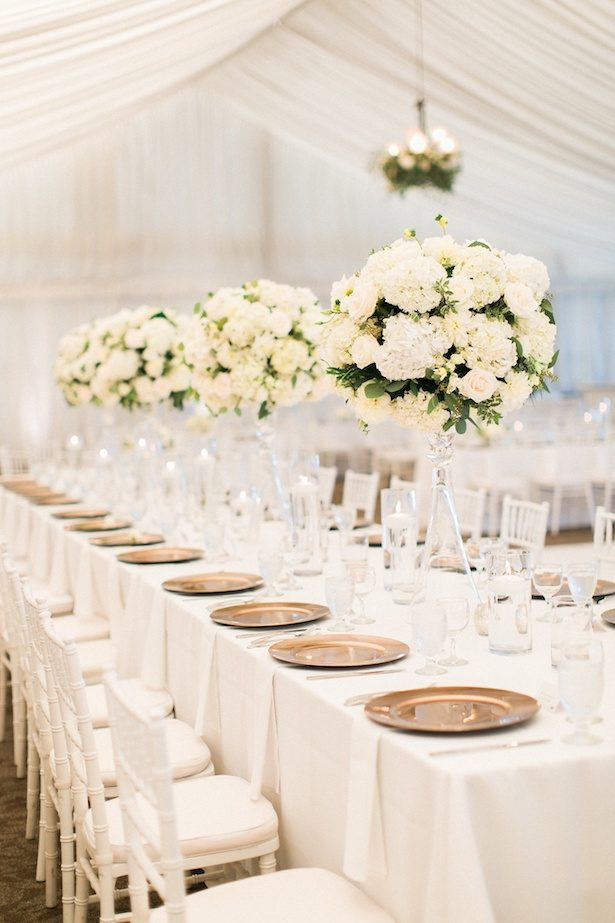 Tablescape - All White Wedding Ideas - Sweetlife Photography