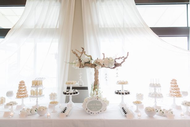 All white wedding ideas for a fabulous winter wedding dessert bar all white wedding ideas anna delores photography junglespirit Choice Image