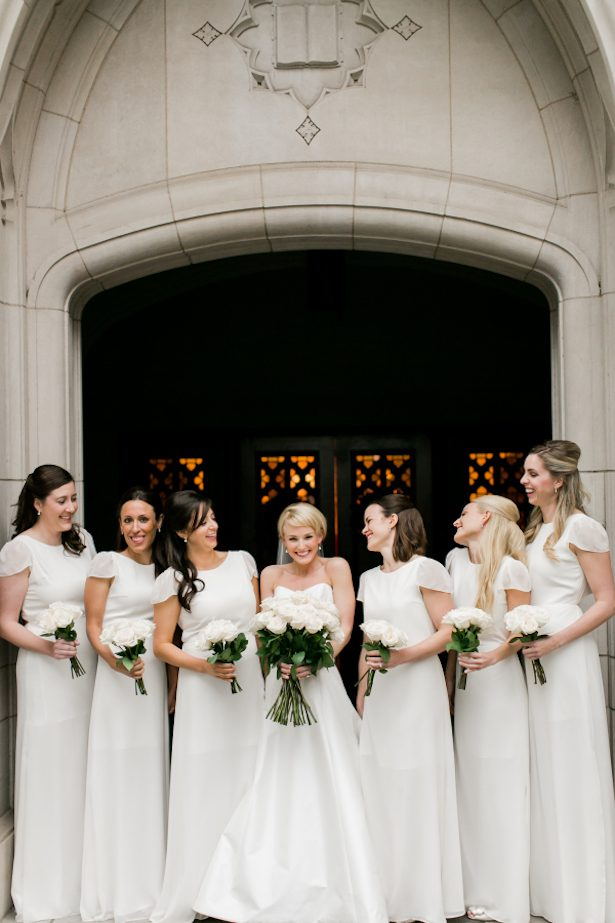 Bridesmaid Dresses - All White Wedding Ideas - 017. joanna august - Mint Photography