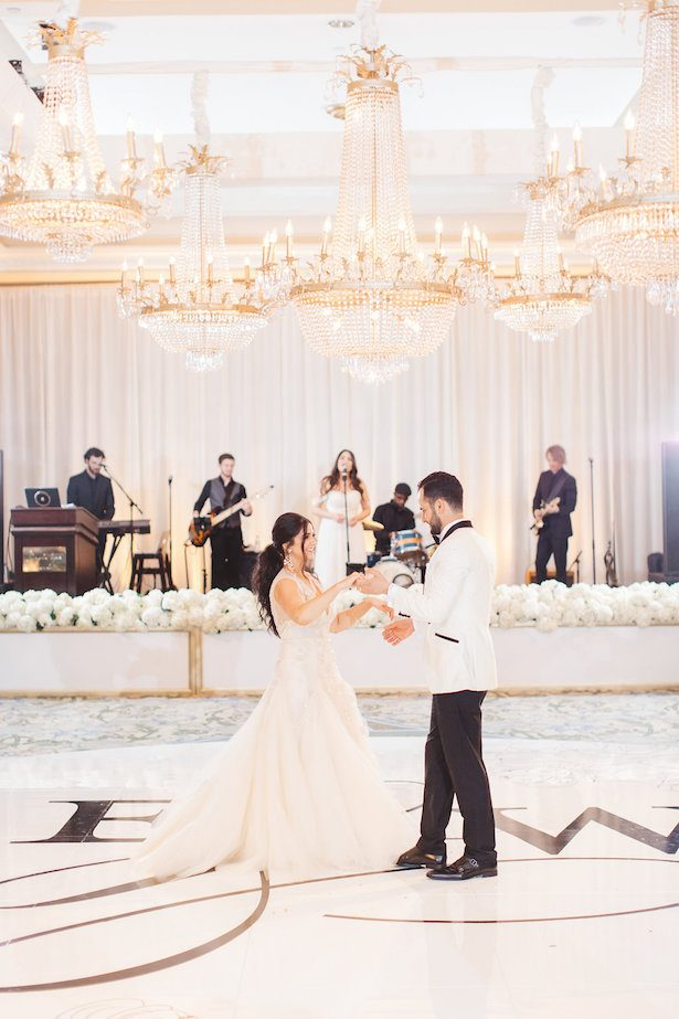 Dance floor - All White Wedding Ideas - 022. Styled by TC - Brandon Kidd Photography - Flowers: Elegant by Design