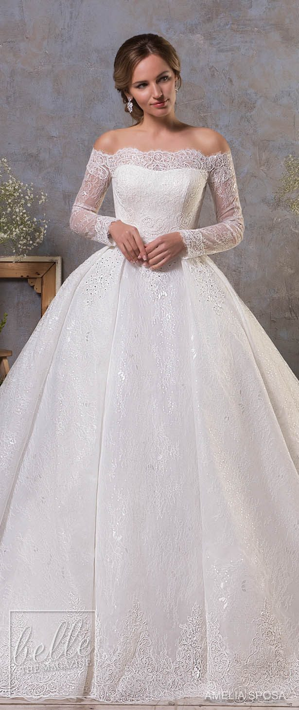 Stunning winter wedding dresses belle the magazine winter wedding dress amelia sposa fall 2018 wedding dresses junglespirit Gallery