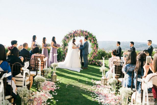 Beautiful Garden Wedding Ceremony - Donna Lams Photo