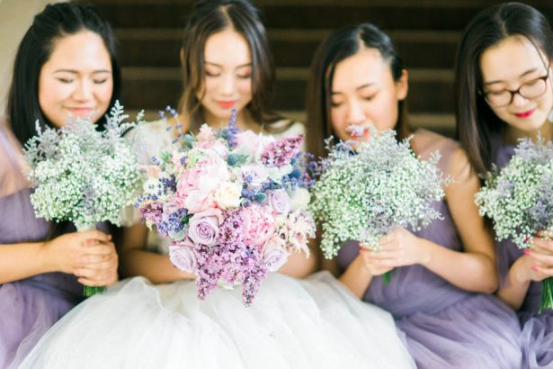 Bridal Party Lavender Bouquets - Donna Lams Photo