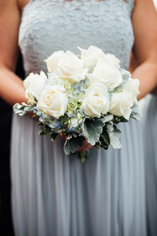 Brides Maid White Bouquet - Esvy Photography