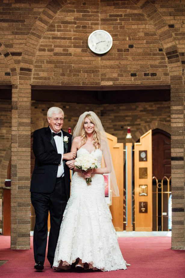 Father of the Bride Walking the Bride - Esvy Photography